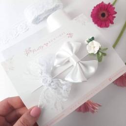 Satin, Lace & flower hair clip set
