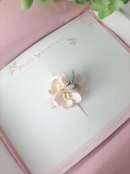 Soft Pink flower clip