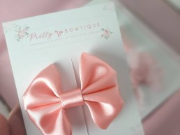 Peach Satin Bow