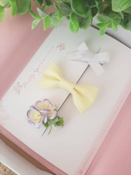 Flower and hair clip set