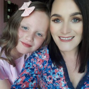 Samantha Stewart and her daughter