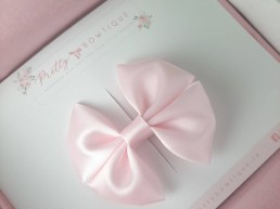 Soft Pink Satin bow